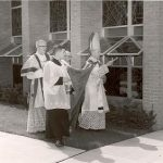 Bishop McManaman Blesses the Motherhouse  1962